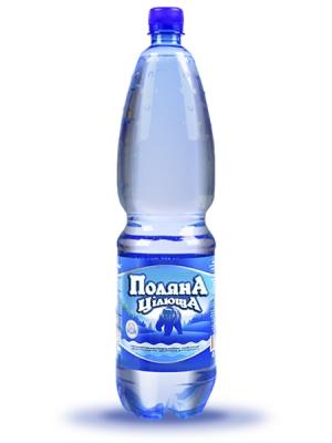 Мінеральна газована вода Поляна цілюща 1,5л