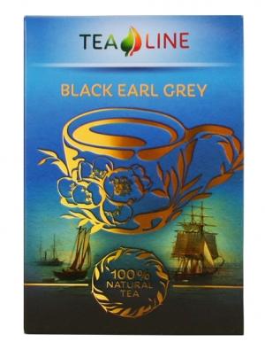 Tea Line - Black Earl Grey — чай черный байховый листовой 90 г