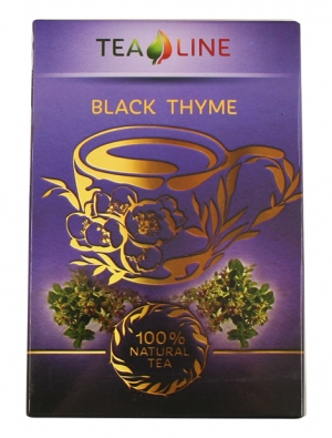 Tea Line - Black thyme — чай черный байховый листовой 90 г