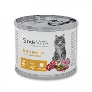 Вологий корм StarVitа телятина з кроликом 200 г