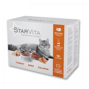 Влажный корм StarVita 12х85 г микс вкусов