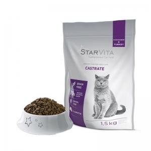 Сухой корм Starvita для кастрированных котов 1.5 кг