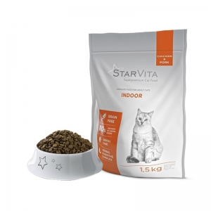 Сухой корм StarVita домашних кошек 1.5 кг