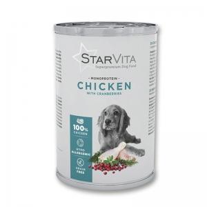 Вологий корм StarVita курятина з ягодами 400 г