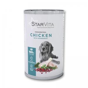 Вологий корм StarVita курятина з ягодами 800 г
