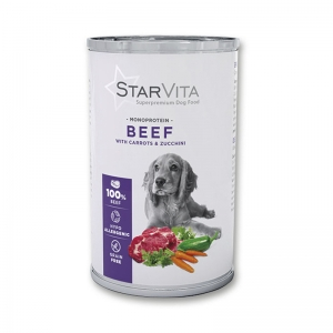 Вологий корм StarVita телятина з морквою 800 г