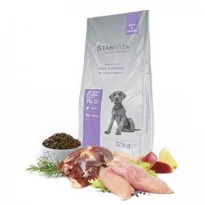 StarVita для цуценят великих порід StarVita зі смаком качки і курки 12 кг