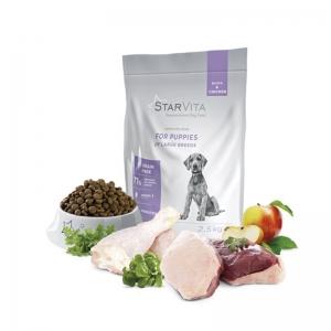 StarVita для щенков крупных пород StarVita со вкусом утки и курицы