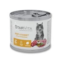 Влажный корм StarVitа телятина с кроликом 200 г