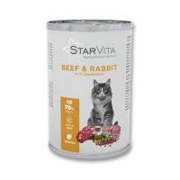 Влажный корм StarVitа телятина с кроликом 400 г